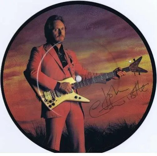 John Entwistle The Who Autographed Too Late the Hero 7″ single