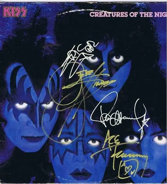 Kiss Creatures of the Night Autographed Lp