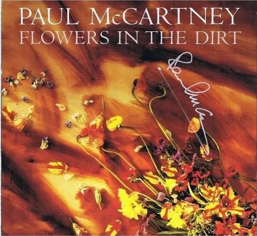 "Paul McCartney The Beatles Autograph Lp ""Flowers In The Dirt"""
