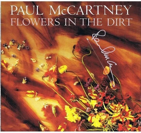 "Paul McCartney The Beatles Autograph Lp ""Flowers In The Dirt"""