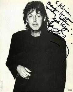 paul mccartney autograph photo