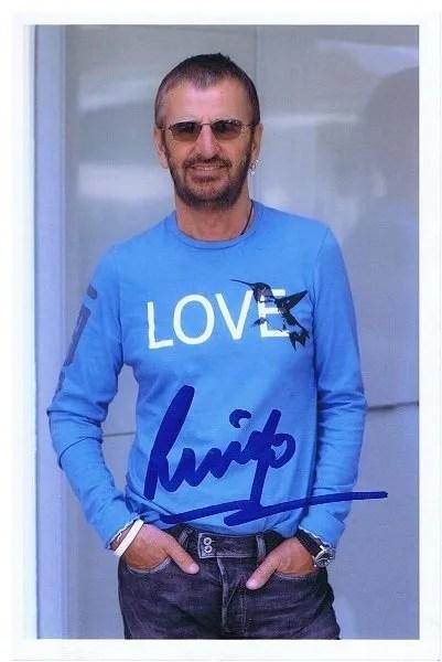 Ringo Starr The Beatles Autograph | The Beatles Autographs