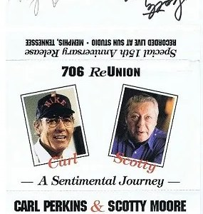 Scotty Moore and Carl Perkins Autographs | Elvis Presley