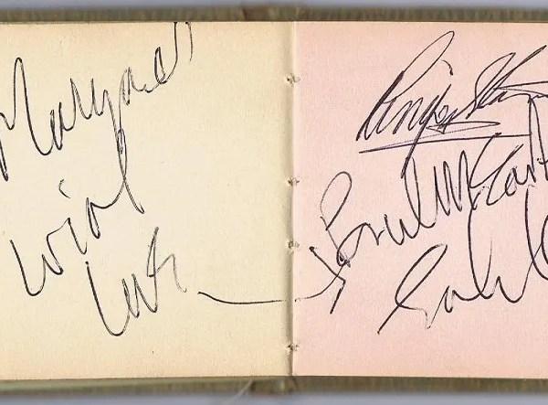The Beatles John Lennon Paul McCartney Autographs Ringo