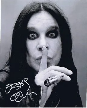 Ozzy Osbourne autograph photo Black Sabbath signed