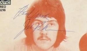 fake john bonham autograph
