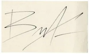 fake brandon lee autograph
