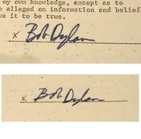 Bob Dylan Autographs and Autograph Examples