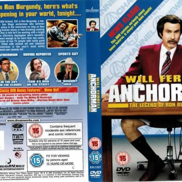 Will Ferrell Autograph Anchorman DVD Cover
