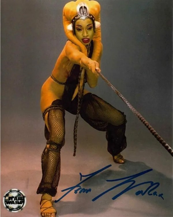Femi Taylor Autograph Star Wars Return of the Jedi Oola