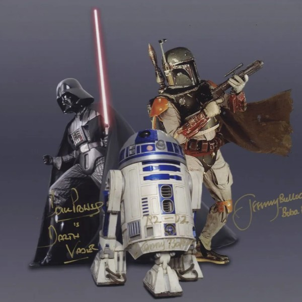 Darth Vader, Boba Fett, & R2-D2 Star Wars Signed Autograph