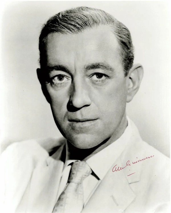 Alec Guinness very early 8×10 portrait photograph