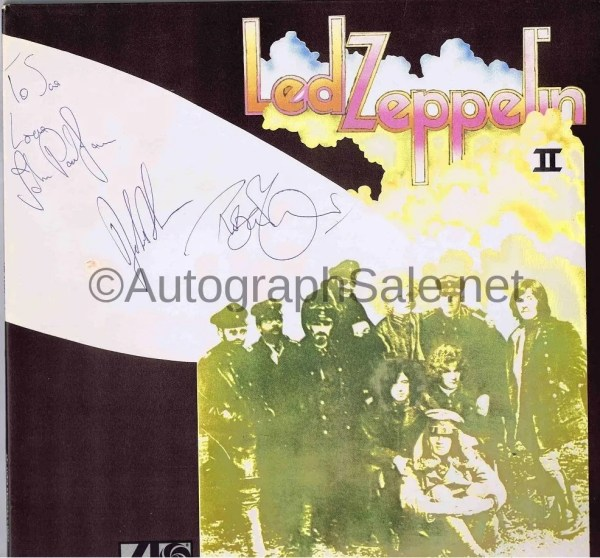 Original Led Zeppelin Autographs 1977 – Led Zep II