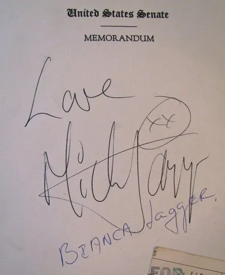 mick jagger autographs rolling stones