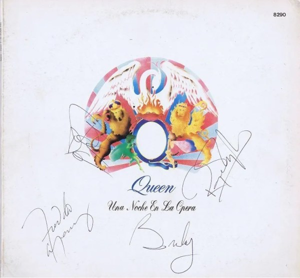 Authentic Queen Autographs – A Night At The Opera