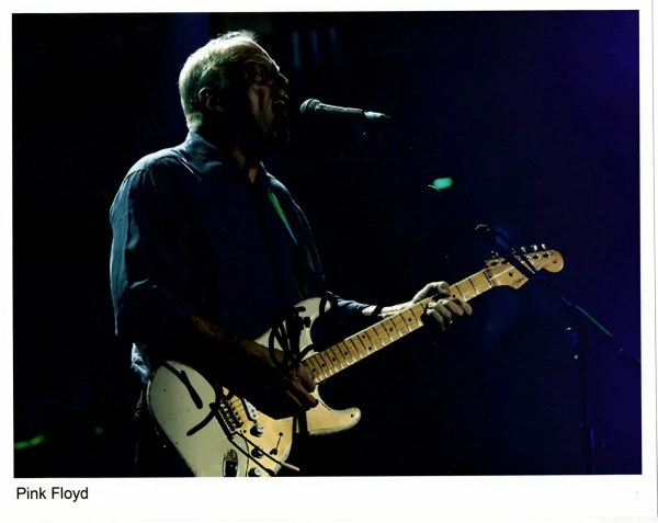 David Gilmour Autograph photo Pink Floyd