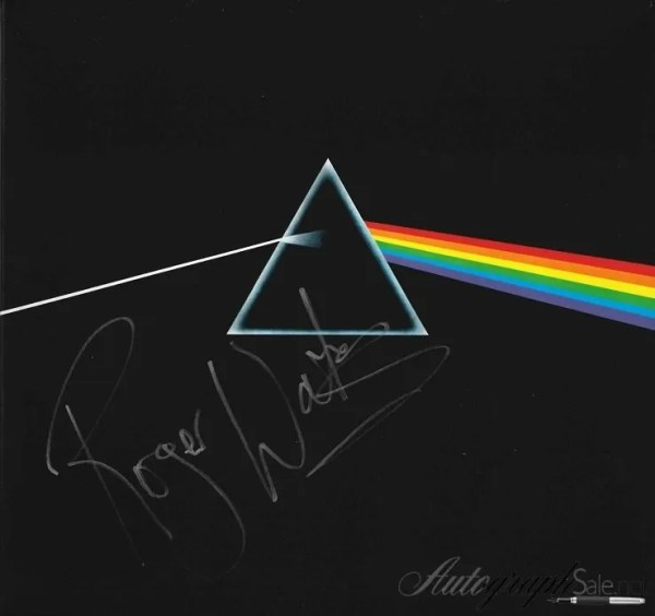 Pink Floyd Dark Side of the Moon Autographed by Roger Waters