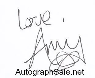 Authentic Amy Winehouse Autographs