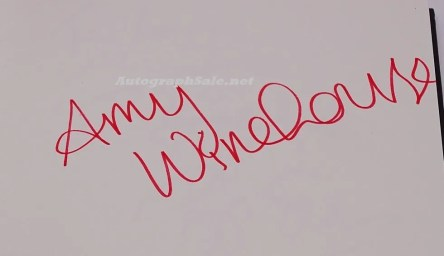 amy winehouse full name autograph 2004