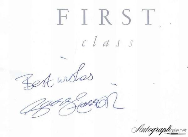 George Harrison autographed British Airways Menu The Beatles