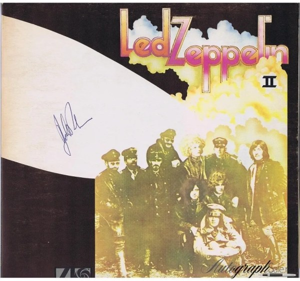 John Bonham Autograph Led Zeppelin 2 Album Lp