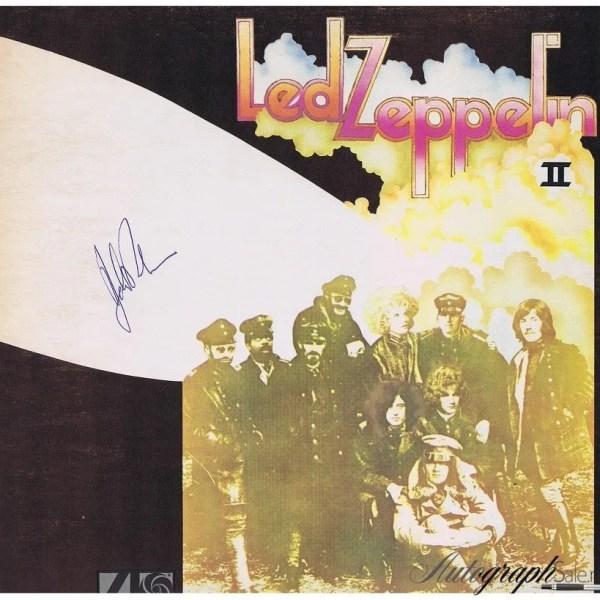 John Bonham Autograph Led Zeppelin 2 Album Lp