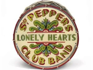 the beatles sgt peppers drum skin