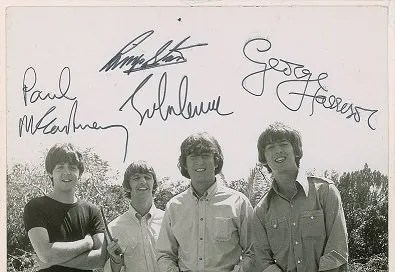 the beatles signed photo 22nd feb 1965