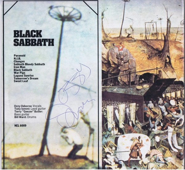 Black Sabbath Greatest Hits Autograph Album Ozzy Osbourne, Tony Iommi, Geezer Butler, Bill Ward