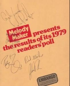 Led Zeppelin autographs 1979