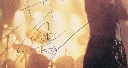 John Deacon autographs 1980