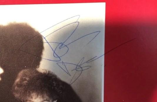John Deacon autograph 1984 queen