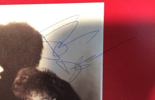 John Deacon autograph 1984 queen