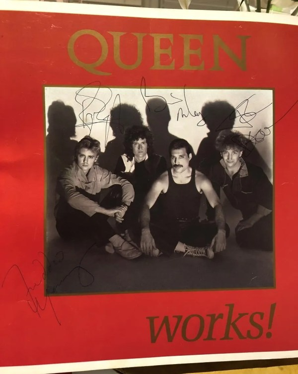Queen The Works autographed 1984 tour programme
