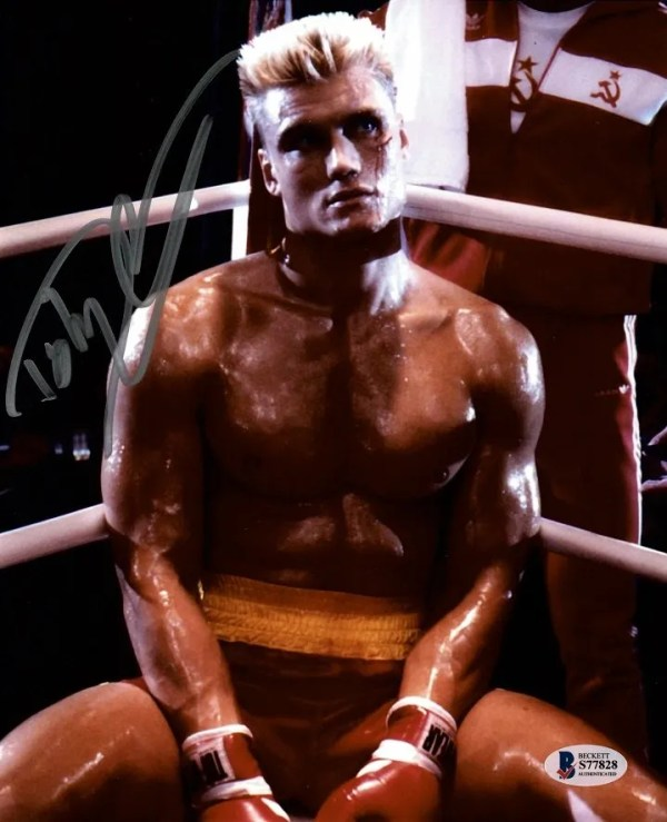 Ivan Drago Autograph Rocky | Dolph Lundgren Autographs for sale