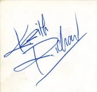 1963 Keith Richard autograph