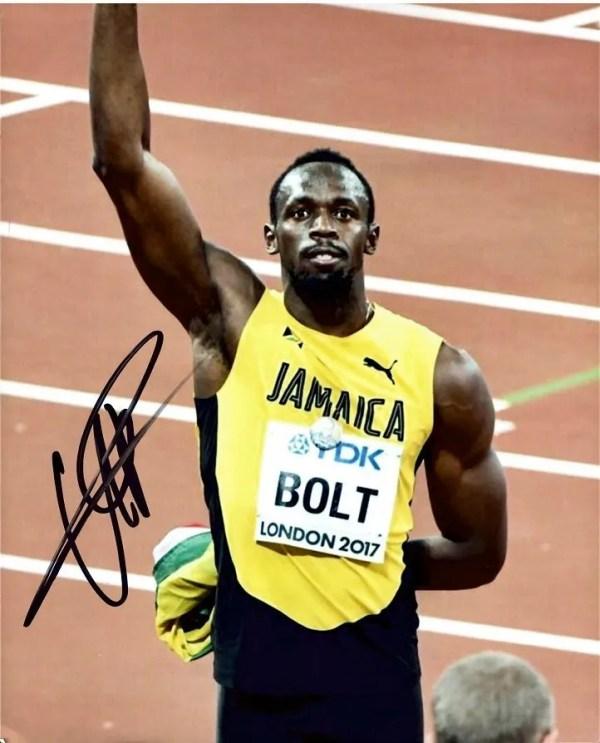 Usain Bolt Autograph 8×10″ signed photo