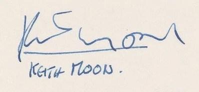 Keith Moon autographs