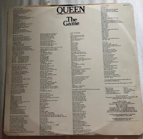 Queen Autographs The Game Lp – Freddie Mercury