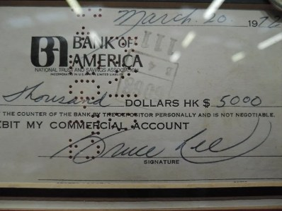 Bruce Lee autograph signed cheque 1972 2