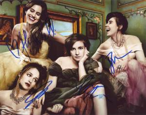 Girls In-person autographed Cast Photo autographed by 4