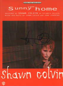 Shawn Colvin in-person autographed Sheet Music