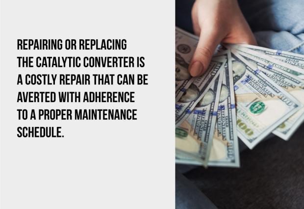 repairing or replacing the catalytic converter