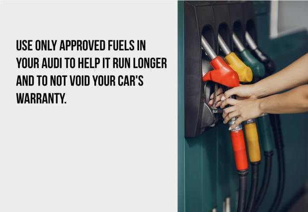 use only approved fuels in your audi