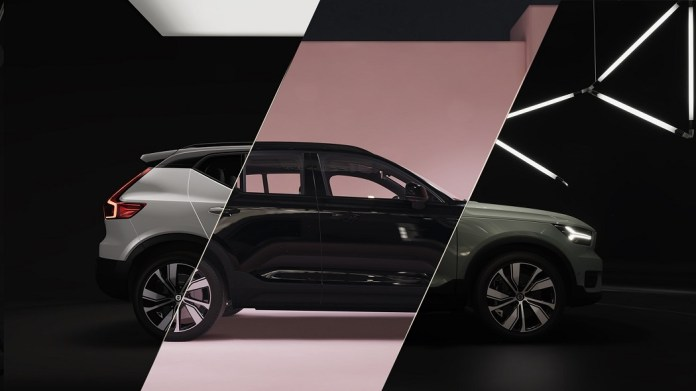 Volvo XC40 Recharge 3D Unity template: collage