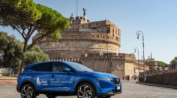 Nissan Qashqai Officical Electrified Car Run Rome the Marathon (7)
