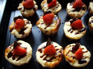 Kleine Kuchen Brownie Cheesecakes  Rezept  kochbarde
