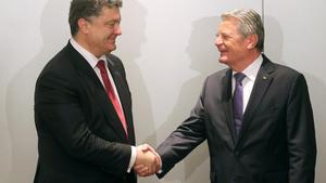 Gauck sichert Poroschenko Unterstützung zu