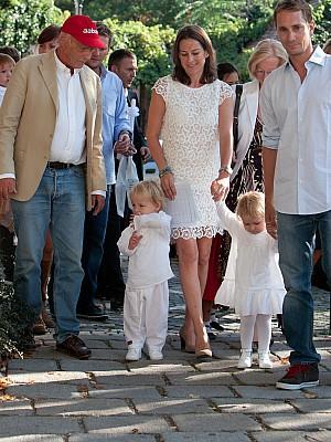 Niki Lauda Zwillinge wurden getauft