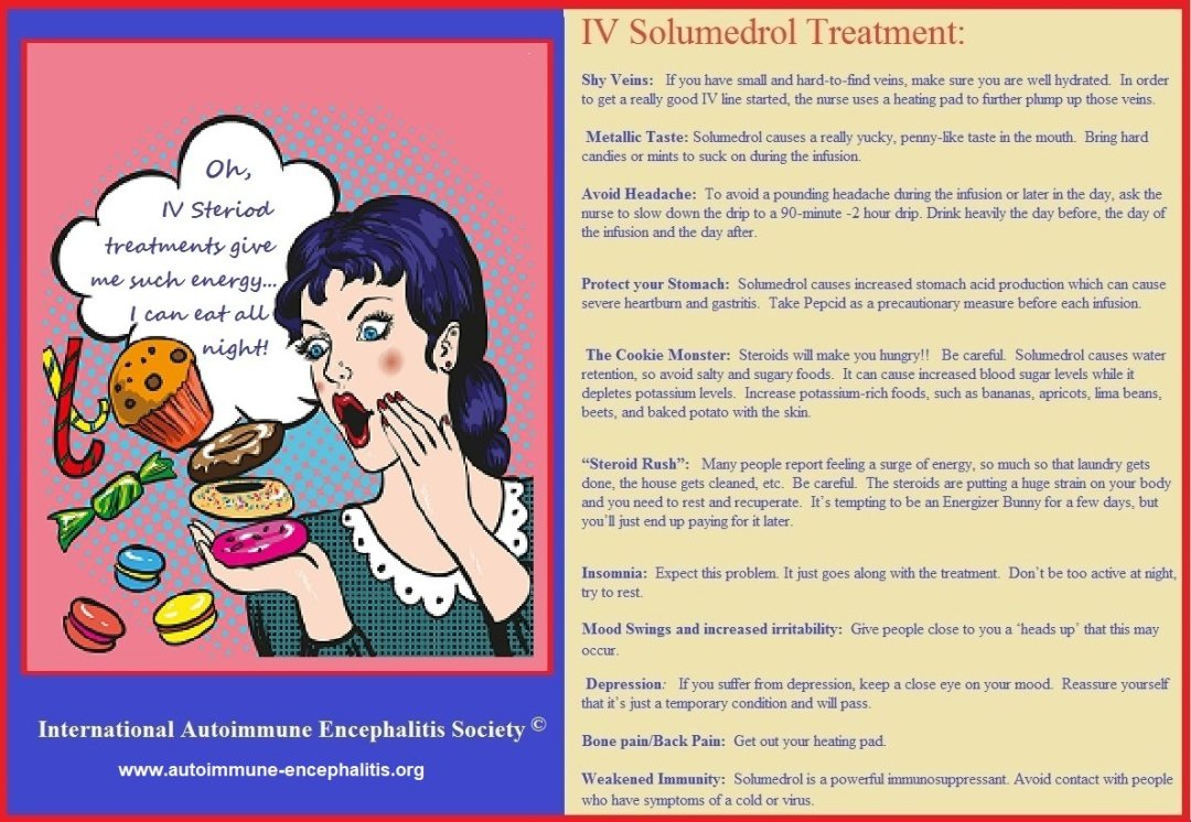 IV solumedrol Treatment What to expect - THE HERD January 2020~ 2nd edition